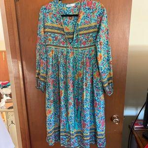 R Vivimos Floral Boho Maxi Dress